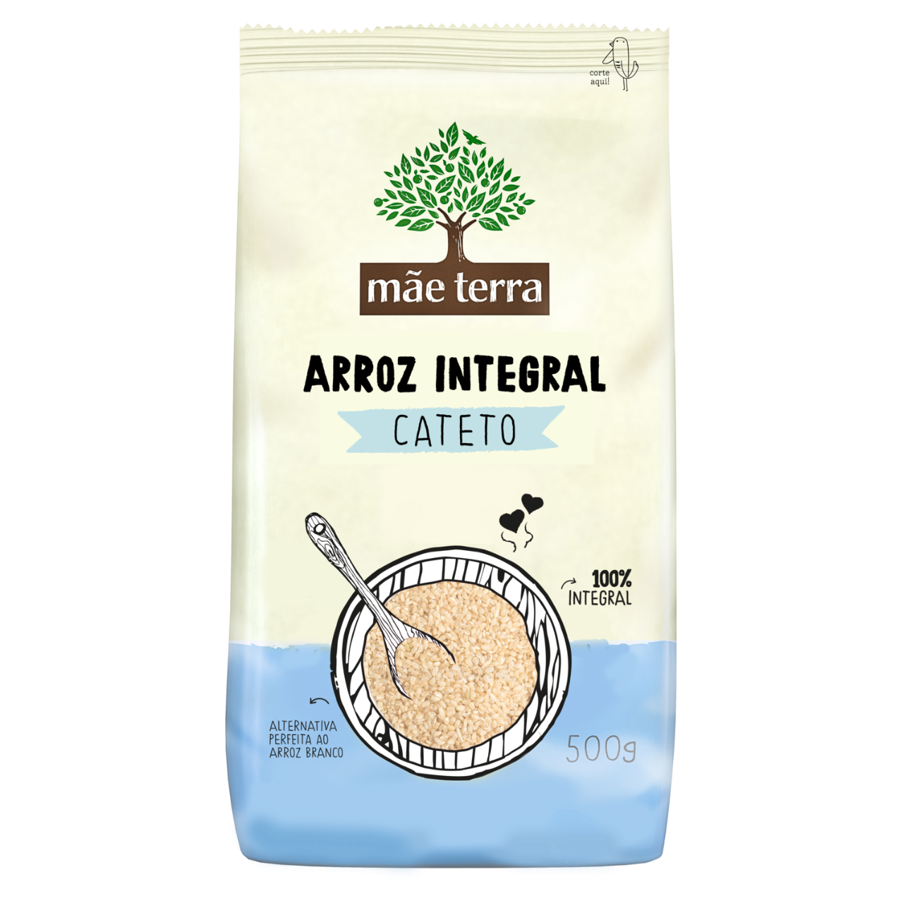 Arroz Cateto Integral 500g